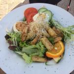 salade asperges met scampi`s