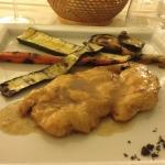pollo al marsala con verdure grigliate