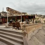 Comfortable seating area at SOS Cave Hotel overlooking the valley of Goreme.(1)