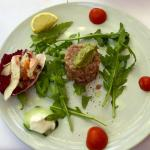Seafood selection and fish tartare