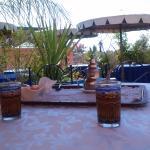 Terraza con té de bienvenida