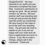 Owner and manager took no responsibility, took the side of the employee even though she was lyin