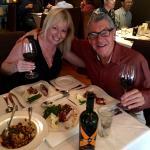 Enjoying the Orecchiette alla Casareccia and Pork Chop!
