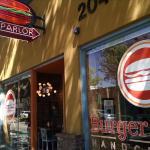 Exterior of Burger Parlor in Fullerton, CA