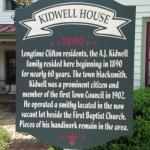 Kidwell House sign