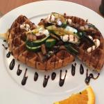 Delicious savory vegetarian yeast waffle! Will go back ASAP! Yum