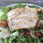 Fresh grilled fish of the day on a caesar salad. YUM!!!