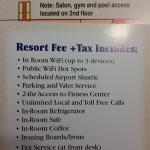 What is included in resort fee