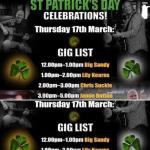 St Patricks day music line up