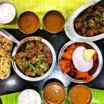 Mutton biryani, mutton sukka, prawns, chicken 65