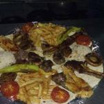 Turkish special mix grill for two.