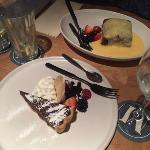 Chocolate torte & sticky toffee pudding