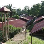 Hopital et village des patients et famille