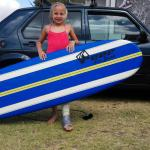 A broken leg didn't stop her,,, what's keeping you from trying?🙌🏄