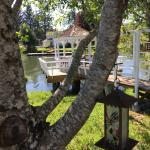 Looking from the deck to the gazebo