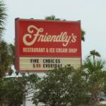 You can't miss the sign for good Ice Cream on the Corner!