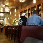 Attractive interior & sushi bar
