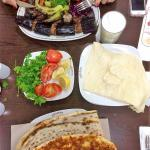 lahmacun and aubergine kebab