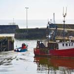 Gourdon harbour fishermen at work