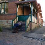 A street musician in Leura