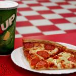 2 slices and a soda anyone?