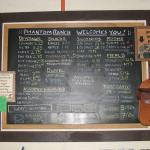 Phantom Ranch Menu/Beverage/Information Board