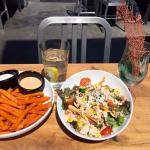 Sweet Potato Fries and Small Ranchero Salad