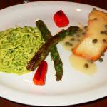 Sea Bass With Pesto Pasta