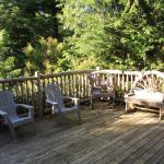 Back deck of Willowbrae Chalet.
