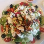 Greek salad with chicken. Delicious!!!