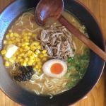 Miso Ramen with pork corn and spicy garlic