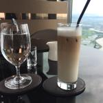 Horrible ice coffee. It has more milk and water than coffee. Poor service at the 96 floor bar wh