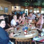 Family Dinner at the Blue Heron! One of many ... Grandparents, Children and Grandchildren.