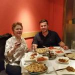 Nephew and me enjoying our beautiful curry.