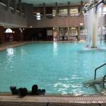 Indoor Outdoor pool at the Hydro