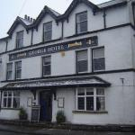 Front of the George Hotel in Orton