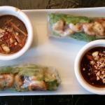 Spring Rolls with shrimp.