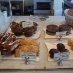 Fresh muffins and pastries.