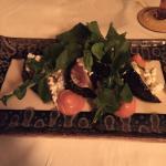 Typically thoughtful presentation of salad at Punta Bonita