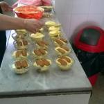 Preparazione  dei tiramisù. ....