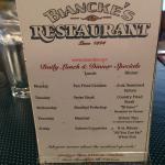 Foto de Biancke's Restaurant