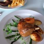 Confit duck and steak