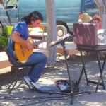 Guitar Player Provides Music