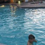 piscina antes de la cena