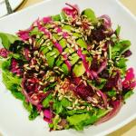 Barbitiola - rocket, roasted beetroot, avo, rosso onion, sunflower seeds, beet dressing, balsami
