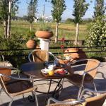 Hotel terrace where we enjoyed are breakfast