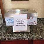 Out of order pancake maker
