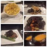 Truffle Mac n Cheese, Asian short ribs, Skirt steak, Filet mignon and Pumpkin Alexanders