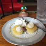 Mr. Peabody Pembroke loves Tahitian Vanilla Cakes! Just the right size!