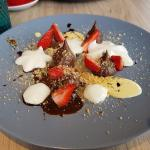 Chocolate, strawberries and parmigiano